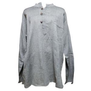 メンズブラウス アジアン衣料 コットン・ネパール・メンズブラウス22 クリックポスト選択 送料200円|e-bingo