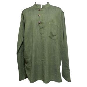メンズブラウス アジアン衣料 コットン・ネパール・メンズブラウス26 クリックポスト選択 送料200円|e-bingo