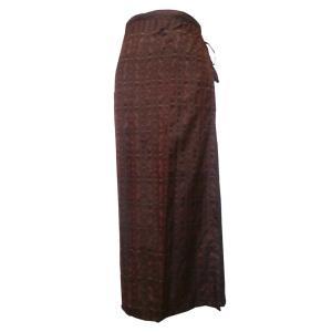 スカート アジアン衣料 タイシルク巻きスカート4|e-bingo