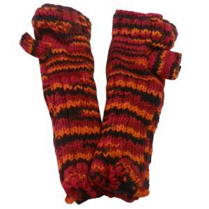 手袋 アジアン衣料 ネパール・ウール・アームウオーマー 1|e-bingo