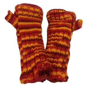 手袋 アジアン衣料 ネパール・ウール・アームウオーマー 6|e-bingo