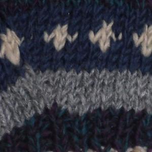手袋 アジアン衣料 ネパール・ウール紐付きミトン手袋裏フリース付き35|e-bingo|02