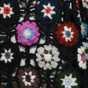 ポンチョ ネパール手編みモチーフポンチョ6|e-bingo|05