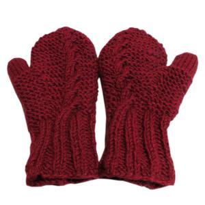 手袋 アジアン衣料 ネパール・ウール・ミトン手袋 裏フリース付き11|e-bingo