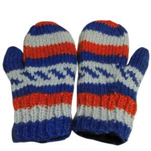 手袋 アジアン衣料 ネパール・ウール・ミトン手袋 裏フリース付き16|e-bingo