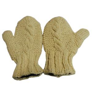 手袋 アジアン衣料 ネパール・ウール・ミトン手袋 裏フリース付き2|e-bingo