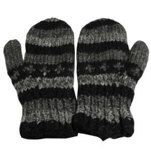手袋 アジアン衣料 ネパール・ウール・ミトン手袋 裏フリース付き23|e-bingo