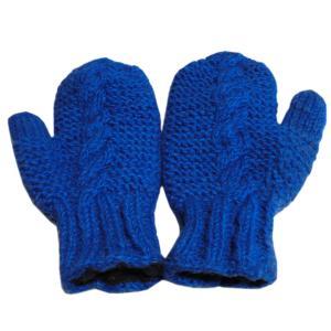手袋 アジアン衣料 ネパール・ウール・ミトン手袋 裏フリース付き7|e-bingo