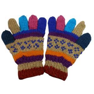手袋 アジアン衣料 ネパール手編み手袋1|e-bingo