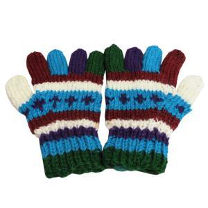 手袋 アジアン衣料 ネパール手編み手袋10|e-bingo