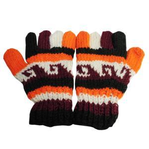 手袋 アジアン衣料 ネパール手編み手袋12|e-bingo