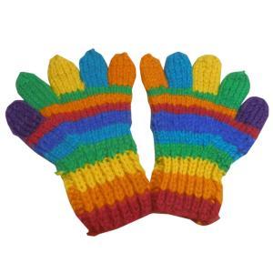 手袋 アジアン衣料 ネパール手編み手袋14|e-bingo