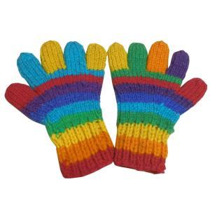 手袋 アジアン衣料 ネパール手編み手袋15|e-bingo