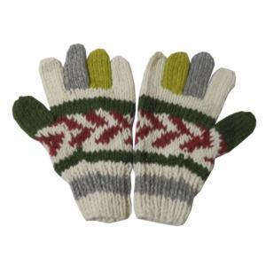 手袋 アジアン衣料 ネパール手編み手袋17|e-bingo