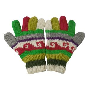 手袋 アジアン衣料 ネパール手編み手袋19|e-bingo