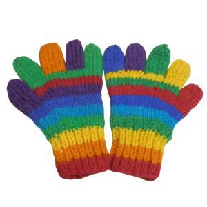 手袋 アジアン衣料 ネパール手編み手袋3|e-bingo
