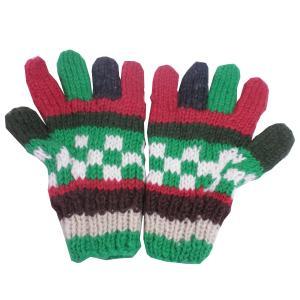 手袋 アジアン衣料 ネパール手編み手袋4|e-bingo