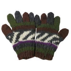 手袋 アジアン衣料 ネパール手編み手袋5|e-bingo