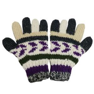 手袋 アジアン衣料 ネパール手編み手袋56|e-bingo