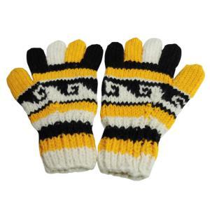 手袋 アジアン衣料 ネパール手編み手袋6|e-bingo