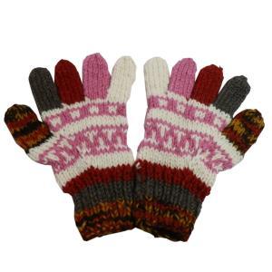 手袋 アジアン衣料 ネパール手編み手袋8|e-bingo