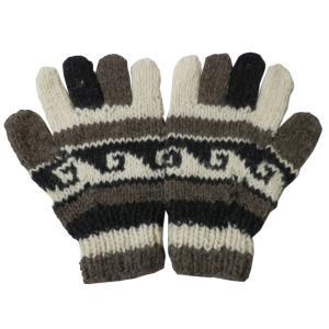 手袋 アジアン衣料 ネパール手編み手袋9|e-bingo