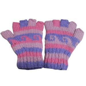 手袋 ネパールウール指無し手袋 裏フリース付き9|e-bingo