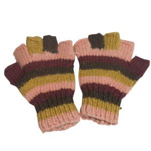 手袋 アジアン衣料 ネパール手編み指なし手袋10|e-bingo