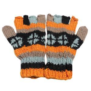 手袋 アジアン衣料 ネパール手編み指なし手袋11|e-bingo