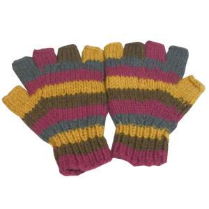 手袋 アジアン衣料 ネパール手編み指なし手袋12|e-bingo