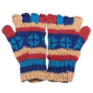 手袋 アジアン衣料 ネパール手編み指なし手袋13|e-bingo