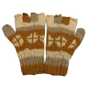 手袋 アジアン衣料 ネパール手編み指なし手袋14|e-bingo