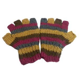 手袋 アジアン衣料 ネパール手編み指なし手袋15|e-bingo