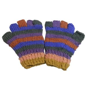 手袋 アジアン衣料 ネパール手編み指なし手袋18|e-bingo