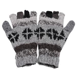 手袋 アジアン衣料 ネパール手編み指なし手袋19|e-bingo