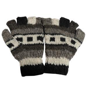 手袋 アジアン衣料 ネパール手編み指なし手袋20|e-bingo