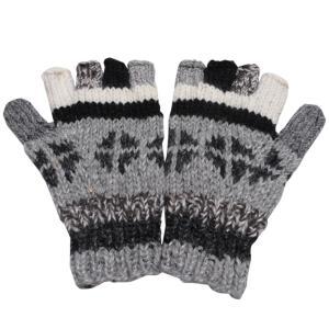 手袋 アジアン衣料 ネパール手編み指なし手袋21|e-bingo
