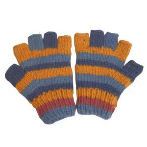 手袋 アジアン衣料 ネパール手編み指なし手袋22|e-bingo