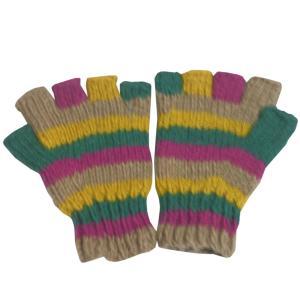 手袋 アジアン衣料 ネパール手編み指なし手袋23|e-bingo