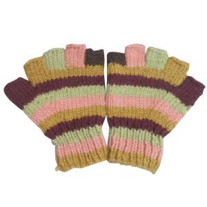 手袋 アジアン衣料 ネパール手編み指なし手袋24|e-bingo
