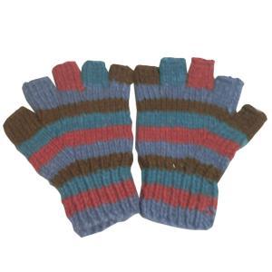 手袋 アジアン衣料 ネパール手編み指なし手袋25|e-bingo