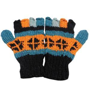 手袋 アジアン衣料 ネパール手編み指なし手袋28|e-bingo