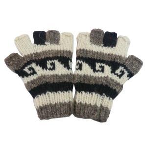 手袋 アジアン衣料 ネパール手編み指なし手袋3|e-bingo