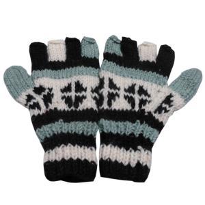 手袋 アジアン衣料 ネパール手編み指なし手袋30|e-bingo