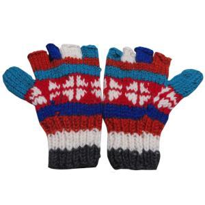 手袋 アジアン衣料 ネパール手編み指なし手袋32|e-bingo
