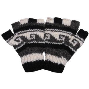 手袋 アジアン衣料 ネパール手編み指なし手袋37|e-bingo