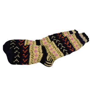 ソックス アジアン衣料 ネパール手編みロングソックス 10|e-bingo