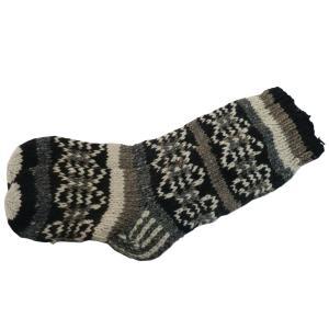 ソックス アジアン衣料 ネパール手編みロングソックス 14|e-bingo