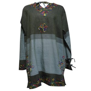 ブラウス アジアン衣料 ネパール・刺繍ブラウス11 クリックポスト選択 送料200円 e-bingo