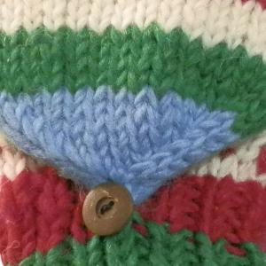 手袋 アジアン衣料 ネパール手編みカバー付き指なし手袋(フリース付)16|e-bingo|02